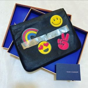 Rebecca Minkoff Pouch & Sticker Set Emoji Clutch